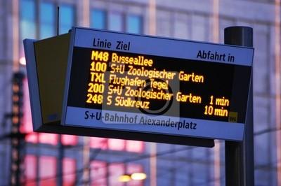 przystanek autobusowy w Berlinie