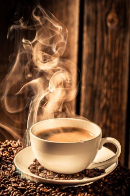 Obraz Puchar aromat kawy z palonych ziaren