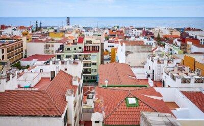 Puerto de la Cruz cityscape seen from above, Tenerife, Spain