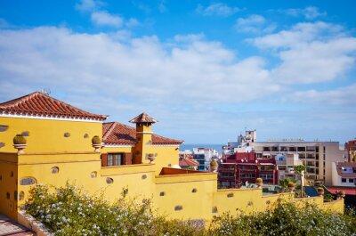 Puerto de la Cruz town architecture, Tenerife, Canary Islands, Spain.