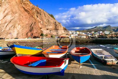 Puerto de Sardina - colorful traditional fishing village in Gran Canaria. Canary islands