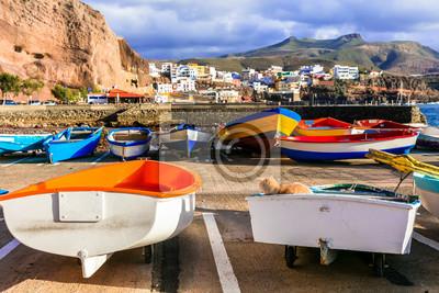 Puerto de Sardina - traditional fishing village in Gran Canaria. Canary islands