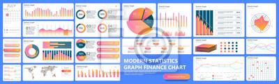 Pulpit nawigacyjny Infographic. Wykresy analityczne danych finansowych, wykres statystyki handlu i kolumna nowoczesnych wykresów biznesowych. Analityka infografiki interfejsu użytkownika statystyki wy