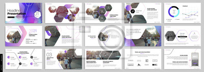 Obraz Purple presentation templates elements on a white background. Vector infographics. Use in Presentation, flyer and leaflet, corporate report, marketing, advertising, annual report, banner.