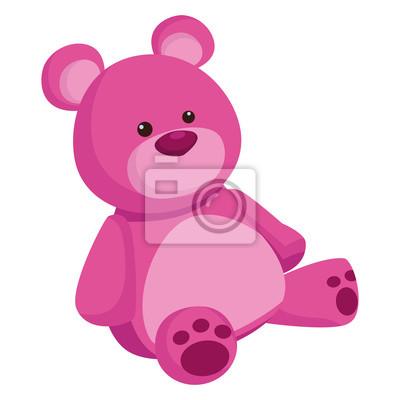Obraz purple teddy bear cartoon symbol