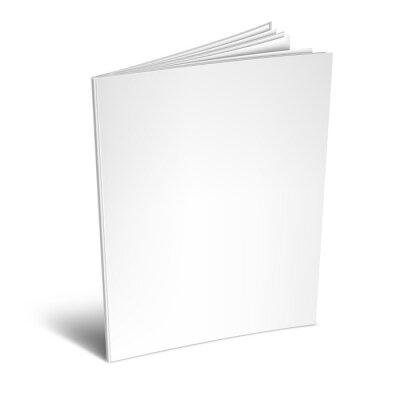 Obraz Pusta biała książka lub magazyn