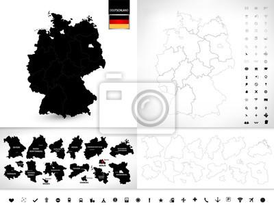 Pusta mapa Niemiec