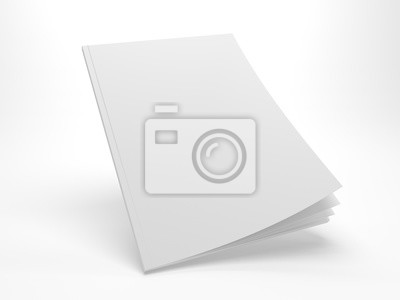 Obraz Puste 3D ilustracji flying otwierając okładkę magazynu makieta.
