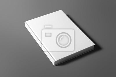 Obraz Puste książki samodzielnie na szarym zastąpić swój projekt
