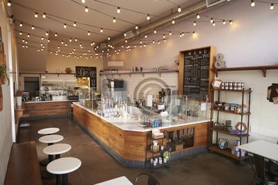 Obraz Puste wnętrze kawiarni lub bar, dzienne