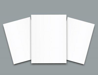 Obraz Pusty plakat bi krotnie broszura makieta okładka szablon