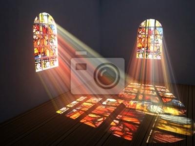 Obraz Pusty pokój z Witraże