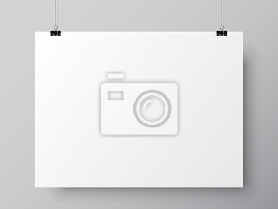 Obraz Pusty szablon plakat Biała