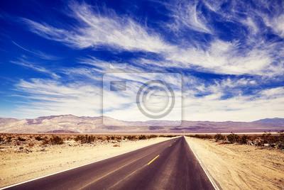 Pustynna droga, kolor tonowanie stosować, podróżuje pojęcie obrazek.