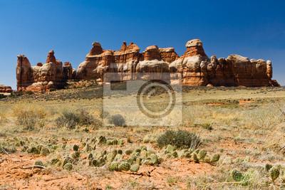 Pustynny krajobraz sceny
