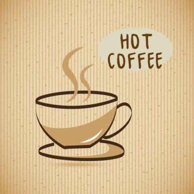 Obraz pyszne kawy projektowania