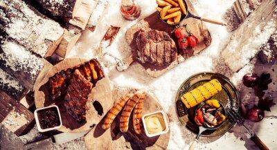 Obraz Pyszne zima grill spread