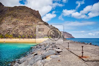 Quay at the Playa de Las Teresitas beach in San Andres, Tenerife, Spain.