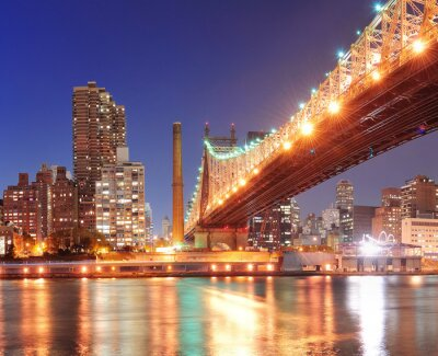 Obraz Queensboro Bridge i Manhattan