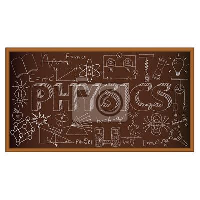 rada szkoły doodle z symboli fizyki. ilustracji wektorowych