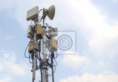 Radiowe antena / Radio wykorzystanie transmisji antena na koncercie.