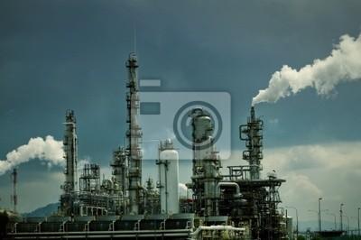 Rafineria ropy naftowej z dymu
