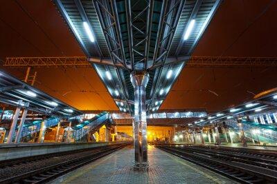 Obraz Railway station at night
