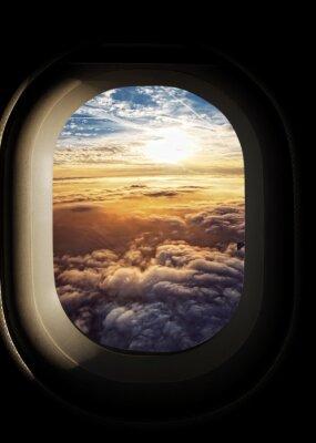 Obraz rajskie niebo widziane z okien samolotu