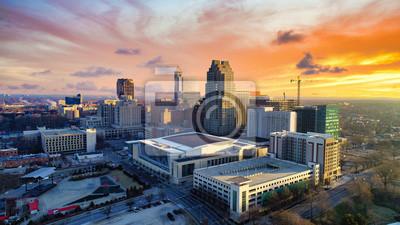 Obraz Raleigh, North Carolina, USA Drone Skyline Aerial