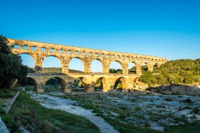 Obraz Rano widok na starożytny akwedukt Pont du Gard