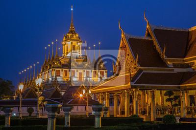 Ratchanaddaram Wat w Bangkok, Tajlandia