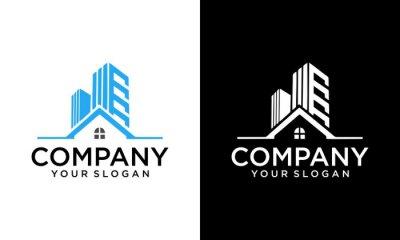 Obraz real estate , building architecture premium logo design. Architect construction logo template. Vector design icon for building company. Architectural and construction design, constructing building,