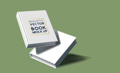 Obraz Realistic blank hardcover book template. Vector marketing illustration.