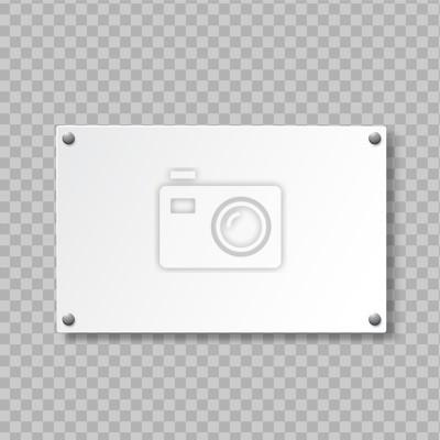 Obraz Realistic signboard on transparent background. Door sign