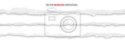 Obraz realistic torn paper edges, vector illustration