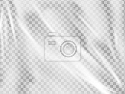 Obraz Realistyczna folia z tworzywa sztucznego. Rozciągnięta pokrywa z polietylenu.