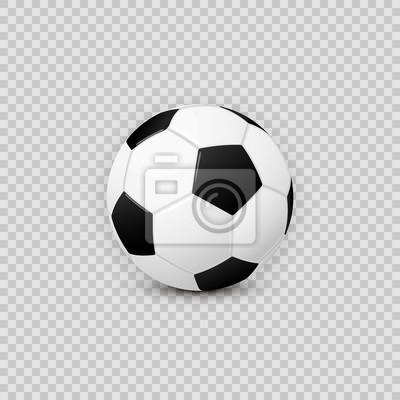 Obraz Realistyczne piłka nożna piłka wektor element projektu na przezroczystym tle kratkę