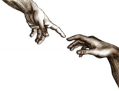 Obraz Ręce Boga i Adama