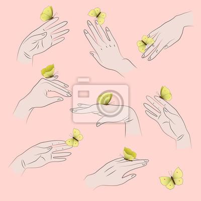 ręce i motyle