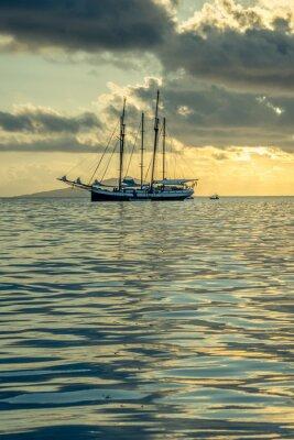 Obraz Recreational Yacht at the Indian Ocean