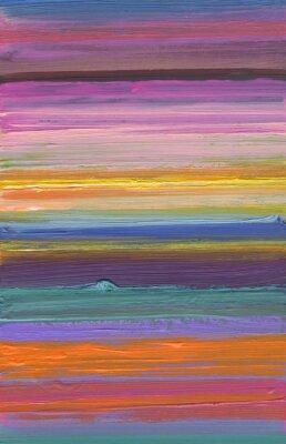 Obraz ręcznie malowane kolorowe paski