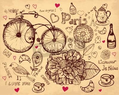 Obraz ręcznie rysowane ilustracji