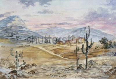 Obraz ręcznie rysowane szkic z krajobrazu