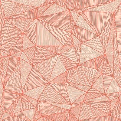 Obraz ręcznie rysowane triangulacji