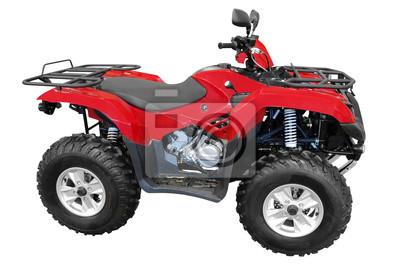 red atv quad-bike odizolowanych