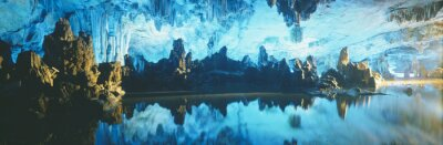 Obraz Reed Flute Cave w Guilin, Guangxi prowincji Republiki Ludowej