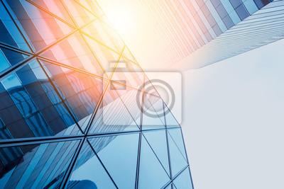 Obraz Refleksje nowoczesnych budynków komercyjnych na okulary z promieni słonecznych