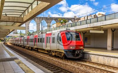 Regional train in Lisbon - Portugal