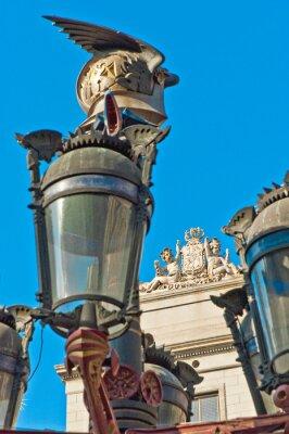 Reial square in Barcelona, Spain
