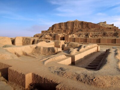 Obraz Remains of Elamite temple of god Kiririsha & ziggurat Chogha Zanbil, Shush, Iran. Complex is object no.1 in UNESCO List. Pyramid is attractive for tourists as most ancient existent monument in Iran